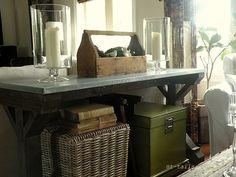 DIY farmhouse style entry table