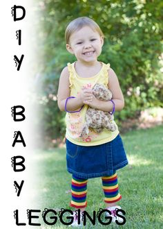 Baby leggings that are super easy to make and could work for a boy OR girl!    candleinthenight.com