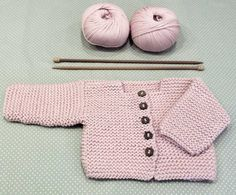 Baby Cardigan Making erzählt und illustriert - Farbe Site Baby Knitting Patterns, Baby Cardigan Knitting Pattern, Knitted Baby Cardigan, Knit Baby Sweaters, Knitting For Kids, Baby Patterns, Crochet Patterns, Crochet Baby Jacket, Knit Jacket