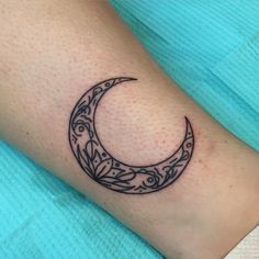 Tiny simple lil crescent moon full of stuff