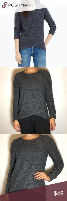 """Madewell Feature Pullover Madewell Feature Pullover in Gray. -Size S. -Wrap-front high/lowhem. -24"""" front length; -27"""" back length. -62% cotton, 20% viscose, 18% nylon. -Excellent condition!  NO Trades. Please make all offers through offer button. Madewell Sweaters"""