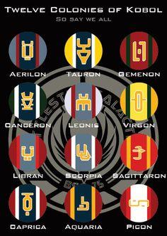Battlestar Galactica - Twelve Colonies Pins by marekmaurizio.deviantart.com on @deviantART