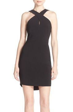 Adelyn Rae Crossover Neck Crepe Sheath Dress (Nordstrom Exclusive) http://shop.nordstrom.com/c/womens