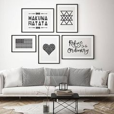 Refuse To Be Ordinary, typography art print modern handwriting quote printable quotes horizontal frame landscape frame print Living Room Decor, Bedroom Decor, Decor Room, American Flag Art, Gallery Wall Layout, Tribal Decor, Tribal Theme, Love Wall Art, Cheap Home Decor