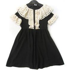 Wholesale designer clothing,designer dress,brand clothes,women... ❤ liked on Polyvore featuring dresses, vestidos, black, vintage, vintage dresses and vintage day dress