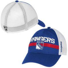 9d70c2d475b Mens New York Rangers Reebok Royal Blue Center Ice Player Flex Hat