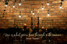 Romantic wedding table - Love is what you've been through with someone -James Thunder. Shiloh, Thunder, Wedding Table, South Africa, Wedding Venues, Romance, Love, Movie Posters, Wedding Reception Venues