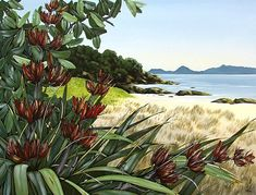 Kirsty Nixon New Zealand contemporary landscape artist, detailed realist paintings, Rangitoto, NZ beach scenes, coastal Contemporary Stairs, Contemporary Building, Contemporary Cottage, Contemporary Apartment, Contemporary Wallpaper, Contemporary Landscape, Contemporary Interior, Contemporary Paintings, Contemporary Chandelier
