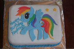 Rainbow dash cake
