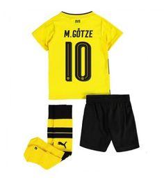 Dortmund Mario Gotze 10 Hemmaställ Barn 17-18 Kortärmad Shinji Kagawa, Lionel Messi, Neymar, Ronaldo, Mario, Trunks, Sports, Swimwear, Marco Reus