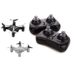 Propel RC Atom 10 Micro Drone IndoorOutdoor Wireless Quadrocopter 2Pack BlackSilver *** Want additional info? Click on the image.