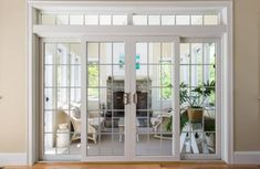 Harvey Patio Doors are custom-built for your home! Which patio door is right for you? Narrow French Doors, Interior Double French Doors, French Doors Patio, Double Sliding Patio Doors, Wooden Patio Doors, Interior Barn Doors, Door Design, Design Design, Entry Doors