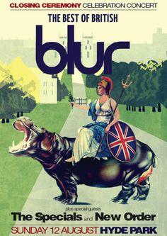 Blur / gig poster (2012)