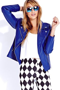 yes, you look #Royal in Blue! #MotoJackets bring out the RAD in you! www.keshiaskloset.com