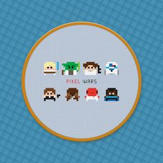 Star Wars - Pixel Wars - Cross Stitch PDF Pattern Download. $4.00, via Etsy.