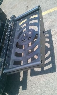 Custom Hitch Carriers from RLC This is a step up from the Chinese bolt together junk you normally see. Welded and ready for paint. NO assembly required. 14x28 cargo area holds 4 jerry cans. Or it will