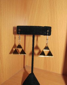 The Legend of Zelda Gold Mirrored RetroTriforce by emmadreamstar, $15.00