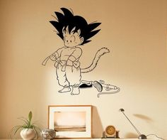 Japanese Manga Anime Wall Decal Son Goku Vinyl Sticker Home Interior Bedroom Decor Art Mural Door Sticker Housewares Door Stickers, Removable Wall Stickers, Vinyl Wall Decals, Dragon Ball Z Shirt, Anime Store, Son Goku, Decoration, Manga Anime, Bedroom Decor