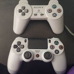 Iconic Grey PS1 & PS4 Controllers