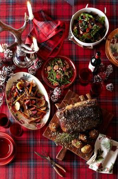 Christmas Dinner Menu on our Tartan Table