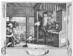 """Textile manufacturing, in particular silk weaving, formed the largest single occupation for the French refugees. This work was concentrated in Spitalfields, and a substantial number of large workshops were established. These employed many hands and made their owners extremely wealthy. By 1747 Hogarth could knowingly depict his """"Industrious Apprentice"""", Francis Goodchild, entrusted with a large silk-ribbon manufactory in Spitalfields, on his way to becoming Lord Mayor of London. This…"""