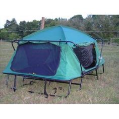 I think I found my next tent that I'm going to buy. Since I only car camp, this would be a great alternative to sleeping on the ground in a tent. Kamp-Rite Tent Cot Double Tent Cot