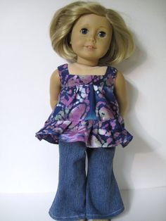 Top with Jeans For Your American Girl Doll by Dressesfordolls, $9.99