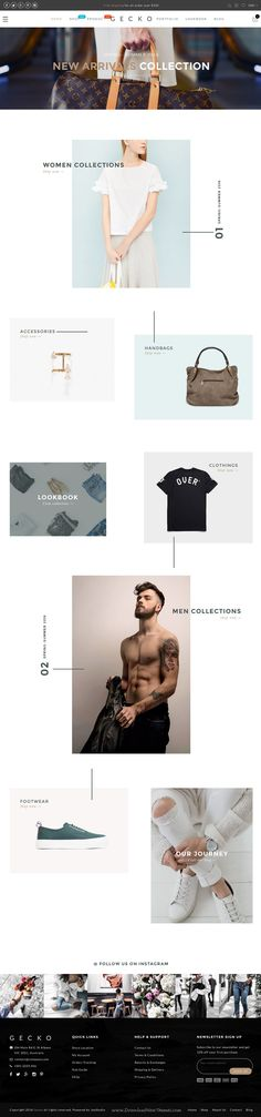 Gecko is an elegant design #WooCommerce WordPress Theme with 8+ homepage layouts for multipurpose eCommerce #website. #fashionstore Download Now!
