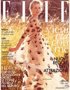 Eva Herzigova by David Burton ELLE ITALIA AUGUST 2015