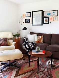 Eames Lounge Chair | Aztec Print | Tribal Pattern | Flat Woven Rugs | Home Ideas