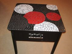 upcycled mosaic table