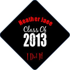 Ideas to decorate your grad cap at www.tasseltoppers.com