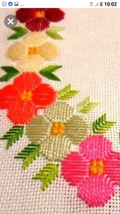 Gabriella Cressa's media content and analytics Embroidery Bags, Hardanger Embroidery, Flower Embroidery Designs, Creative Embroidery, Cross Stitch Embroidery, Embroidery Patterns, Cross Stitch Borders, Cross Stitch Flowers, Cross Stitching
