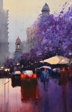 Alvaro Castagnet watercolor painting