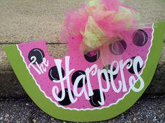 Watermelon Door Hanger by simplysellers on Etsy, $30.00