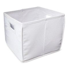 Badger Basket Fabric Folding Bin - White