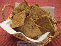 Almond Flax Crackers (Low Carb & Gluten Free) - Buttoni's Low Carb Recipes