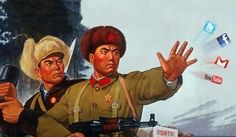 As China head's for its leadership transition here are propaganda posters put out by the Communist Party of China (CPC) from the Chinese Propaganda Posters, Chinese Posters, Propaganda Art, Old Posters, Vintage Posters, Lps, Mao Zedong, Comics Vintage, Les Aliens
