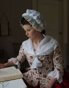 Scarf for Joy F. Use white, gauzy piece of fabric. Make two extras for other girls who might need coverage. 18th Century Dress, 18th Century Costume, 18th Century Clothing, 18th Century Fashion, Rococo Fashion, 1800s Fashion, Vintage Fashion, Historical Costume, Historical Clothing