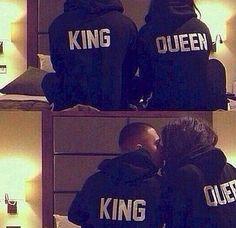 King or Queen hoodie sweatshirt BRAND NEW UNISEX by upper hand corner... Want!!