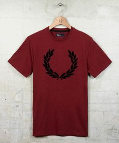 plus the Wimbledon Men's Singles Title.  Fred Perry - Vintage Marl Flocked T-Shirt