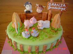 Farm Cake, Fondant, Farm Theme, Party Themes, Cake Decorating, Cupcakes, Birthday, Desserts, Kids