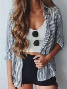 Fashion Striped Long Sleeve Casual Daily Shirt Tops