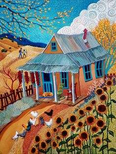 Golden Years by Sally Bartos, New Mexico artist. Her work is available from bartos on Etsy.