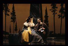 Don Giovanni by Mozart  Kallen Esperian (Donn Elvira) is treated to a list of Don Giovanni's conquests by Leporello (Lucio Gallo), SF Opera, 1991