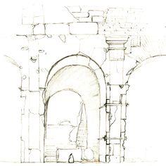 Rilievo architettonico di un arco nord del Colosseo, -  2005