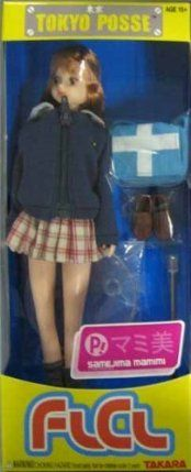 """Tokyo Posse FLCL - Samejima Mamimi by Takara USA. $9.99. She is featured wearing her school uniform and school bag.. This is a doll of Mamimi from the hit series, FLCL (Fooly Cooly).. Takara USA launches a new line of female collectible dolls called Tokyo Posse. The first properties in this line will be a pair of fashion forward figures that are """"must-haves"""" for fans and collectors of Japanese pop culture and anime. This is a doll of Mamimi from the hit series, FLCL (Fooly C..."""