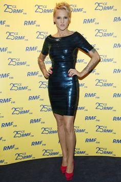 Agnieszka Chylińska na urodzinach radia RMF FM Vogue, Bodycon Dress, Celebrities, Hair Styles, Polish, Dresses, Women, Fashion, Hair Plait Styles
