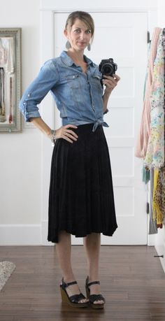 what i wore at the pleated poppy