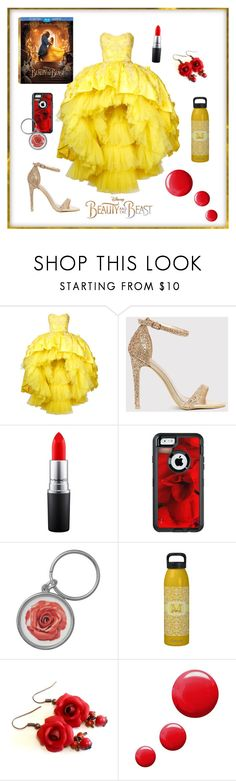 """Beauty and the Beast"" by secretarialap on Polyvore featuring Disney, Mikael D, MAC Cosmetics, OtterBox, Topshop, BeautyandtheBeast and contestentry"